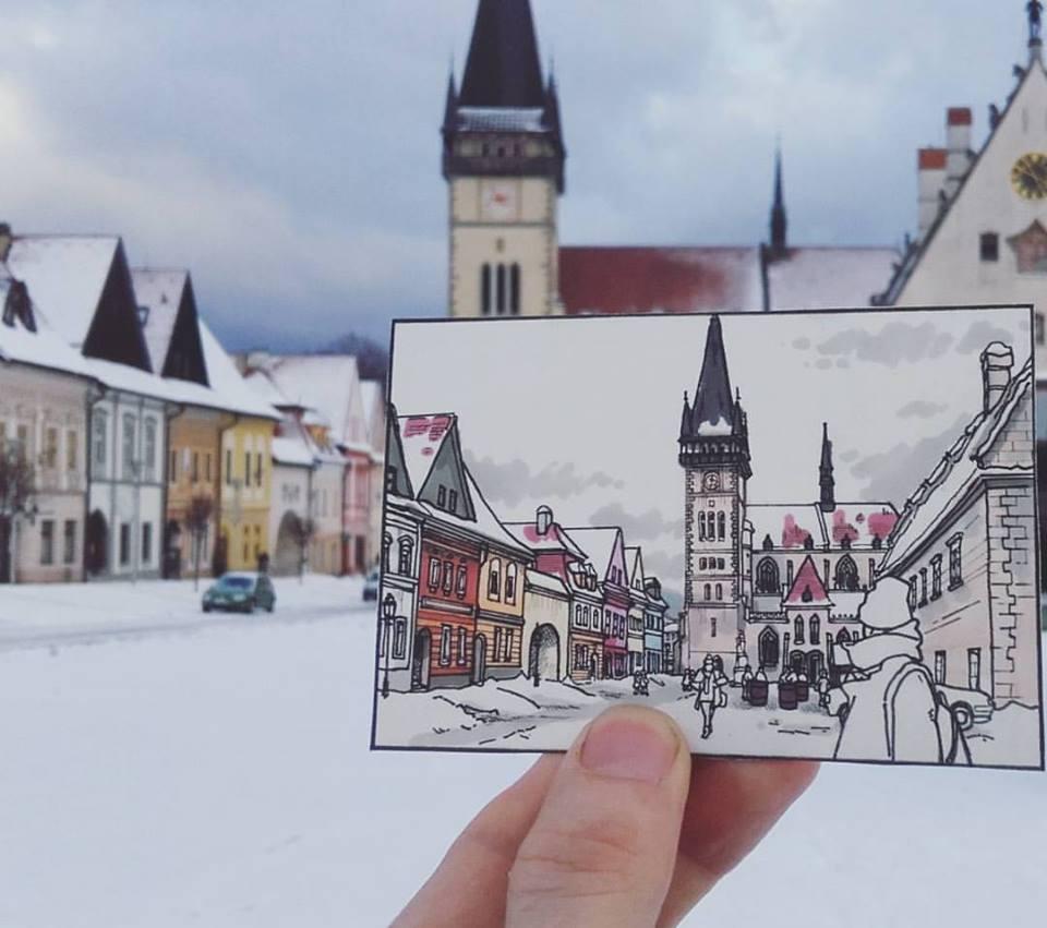 Urban sketches illustration